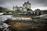 Eilean Donan Castle along the shores of Loch Duich Scotland