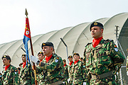 Portuguese troops serving under NATO mission in Kosovo held a welcome ceremony on Saturday, Sept 26, 2009 - in capital Pristina, to transfer the authority from the First Battalion of Infantry - Brigade Battalion intervention to First Mechanized Infantry-Mechanized Brigade. German lieutenant Marcus Bentler led the ceremony. (Photo/ Vudi Xhymshiti)