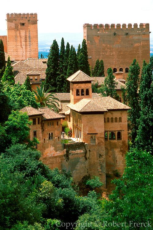 SPAIN, ANDALUSIA, GRANADA the Alhambra; 14th c Moorish palace city