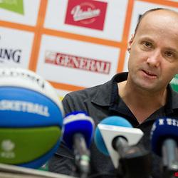 20140115: SLO, Basketball - Press conference of Jure Zdovc, new head coach of Slovenia team