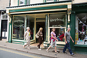 "Shepherds coffee and tea shop in Hay-on-Wye or Y Gelli Gandryll in Welsh, known as ""the town of books"", is a small town in Powys, Wales famous for it's many second hand and specialist bookshops, although the number has declined sharply in recent years, many becoming general antique shops and similar."