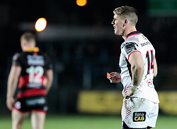 Ulster Rugby's Craig Gilroy<br /> <br /> Photographer Simon King/Replay Images<br /> <br /> Guinness Pro14 Round 10 - Dragons v Ulster - Friday 1st December 2017 - Rodney Parade - Newport<br /> <br /> World Copyright © 2017 Replay Images. All rights reserved. info@replayimages.co.uk - www.replayimages.co.uk