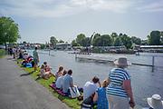 Henley on Thames, England, United Kingdom, 28th June 2019, Henley Royal Regatta Qualifiers, time trial, on Henley Reach, [© Peter SPURRIER/Intersport Image]<br /> <br /> 14:54:52