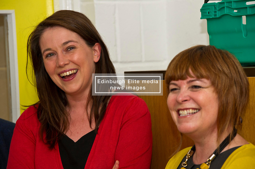 Pictured: Aileen Campbell and Ripple Director Fiona Cross<br /> <br /> Public Health Minister Aileen Campbell and Cosla health and social care spokesman Peter Johnston visited the Ripple project in Edinburgh today to launch their joint launch public health priorities for Scotland<br /> <br /> Ger Harley   EEm 14 June 2018