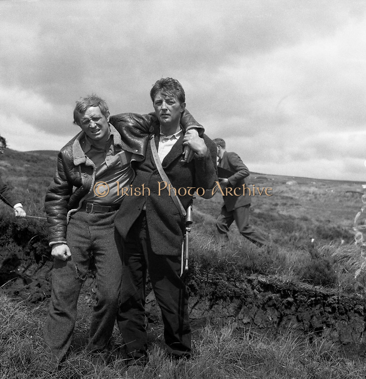 Filming at Sally Gap, Co. Wicklow - Robert Mitchum and Richard Harris . 'The Night Fighters'.12/07/1959