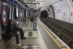 © licensed to London News Pictures. London, UK 31/07/2012. Holborn is one of the busiest central London tube stations during the Games, avoided by the public after the Central line operated with severe delays and temporarily lost its connection to Stratford (Olympic Park) on 31/07/12. Photo credit: Tolga Akmen/LNP