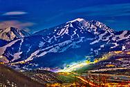 A scenic image of Buttermile Mountain during 2021 X Games Aspen in Aspen, CO. ©Brett Wilhelm/ESPN