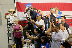 Supporters take pictures of Hillary Clinton at Miami Dade College in Kendall after her speech with former Vice President Al Gore. Miami, FL, USA, October 11, 2016. Photo by Mike Stocker/Sun-Sentinel/TNS/ABACAPRESS.COM