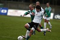 Fotball Toppserien<br /> Klepp Stadion 120408<br /> Foto: Sigbjørn Andreas Hofsmo, Digitalsport<br /> <br /> Klepp - Fløya 4-0<br /> <br /> Stine Frantzen - Gry Tofte Ims