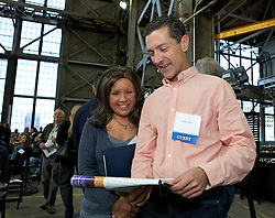 Kristy DeVaney and T. Andy Harris were on hand as Blu Homes opened their West Coast factory on Mare Island in Vallejo, California Dec. 1, 2011.  Over 400 guests attended a ribbon cutting ceremony at the 250,000-square-foot facility.