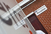 A serco prison van delivers prisoners from court directly to HMP Holloway, the main womens prison in London.