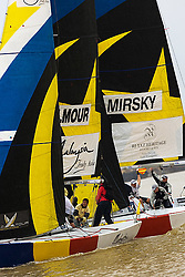2008 Monsoon Cup. Peter Gilmour receiving a penalty after taking to close to Torvar Mirsky (Thursday  5th December 2008). .