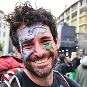 XR Invites London - Earth Feast, hundreds of Extinction Rebellion continue camping and protest for a climate change demand the UK govt to take action not for profit on 22 April 2019, London, UK.
