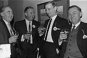 28/04/1964<br /> 04/28/1964<br /> 28 April 1964<br /> Watney Sales Conference at the Shelbourne Hotel, Dublin. At the conference were (l-r): Mr. Walsh; Mr. A.R. Maynard; Mr. T.A. Mullett and Mr. T. Beechinor.