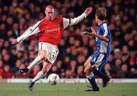 Rhys Weston (Arsenal) Jamie Clapham (Ipswich). Arsenal 1:2 Ipswich Town, Worthington Cup, Third Round, 1/11/2000. Credit Colorsport / Stuart MacFarlane.