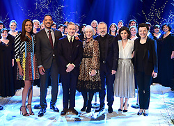 (Front left to right) Naomie Harris, Will Smith, Martin Freeman, Dame Helen Mirren, Graham Norton, Katie Melua, and the Gori Women's Choir appearing on the Graham Norton Show filmed at the London Studios. London, which will be transmitted on BBC One on December 23.