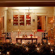 A scale model of the real White House is on display at the Reagan Library in Simi Valley, California. This is the China Room.