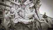 Fontana dei Quattro Fiumi (1651) by Gian Lorenzo Bernini in the Piazza Navona