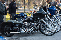 Custom bike on the street at Black Bike Week, which is what the festivities along Dr Mary McLeod Bethune Blvd during Daytona Bike Week has come to be called . Daytona Beach, FL. USA. Thursday March 16, 2017. Photography ©2017 Michael Lichter.