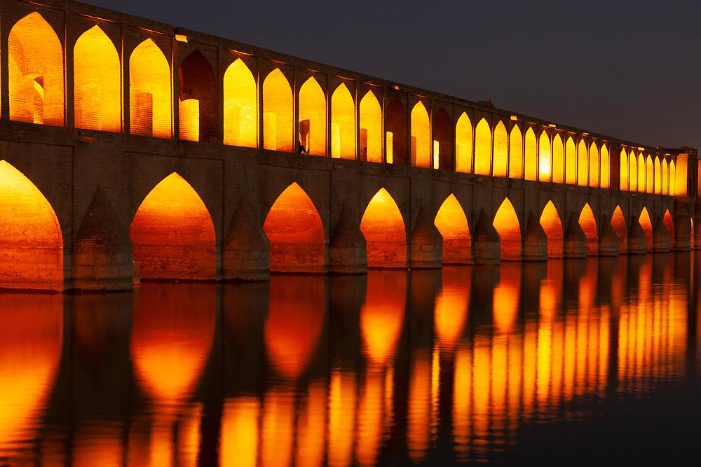 The Si-o-seh Bridge at Esfahan, Iran