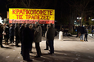 A pro-Syriza government rally in Syntagma square in central Athens against austerity policies.