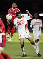 Fotball<br /> Frankrike<br /> Foto: Dppi/Digitalsport<br /> NORWAY ONLY<br /> <br /> FOOTBALL - UEFA CUP 2006/2007 - GROUP STAGE - GROUP E - AS NANCY v WISLA KRAKOW - 02/11/2006<br /> <br /> NORBERT VARGA (WIS) / MONSEF ZERKA (NAN)