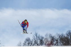 February 15, 2018 - Jeongseon, Gangwon, South Korea - Adrien Theaux of  France competing in mens downhill at Jeongseon Alpine Centre at Jeongseon , South Korea on February 15, 2018. (Credit Image: © Ulrik Pedersen/NurPhoto via ZUMA Press)