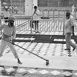 The Golden Temple is maintained by volunteers who keep it clean and beautiful.