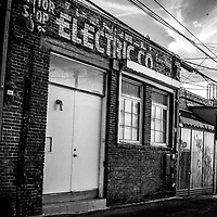 Old electric building and sign in Venice California