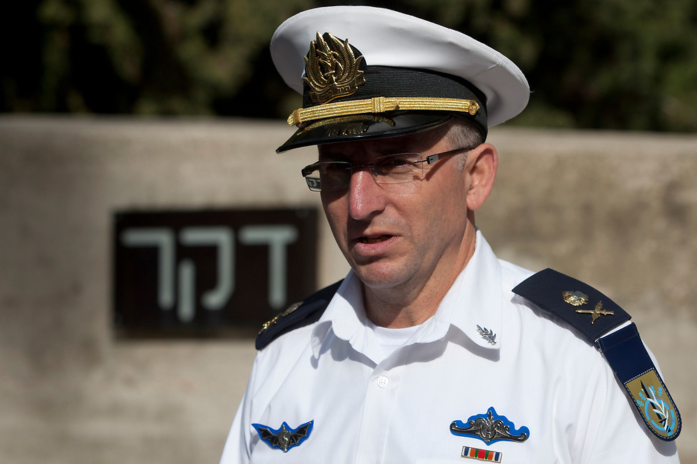 Commander of the Israeli Navy, Major-General Ram Rothberg is seen prior to the annual memorial service for fallen Israeli sailors who died in the Dakar Submarine that went missing in 1968, at Mount Herzl Military Cemetery in Jerusalem, Israel, on January 24, 2012.