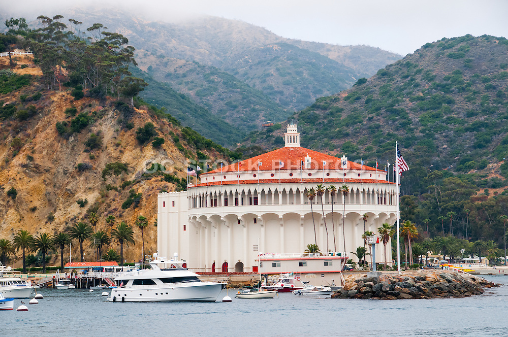 The Catalina Casino in the City of Avalon on Catalina Island