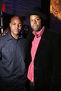 """Harve Pierre and Dana Dane at """" The P. Diddy presents Bad Boy Entertainment Night """" at Spotlight NYC featuring performances by Cherri Dennis and Vanity Kane on January 29, 2008"""