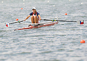Lucerne, SWITZERLAND,  CZE W1X, Mirka KNAPKOVA, moves away from the start, of the third round of the  2009 FISA World Cup,  on the Rottsee regatta Course, Friday  10/07/2009 [Mandatory Credit Peter Spurrier/ Intersport Images].