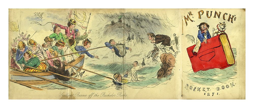 Punch Pocket Book for 1871. Gallant Rescue off the Bachelor Rocks.