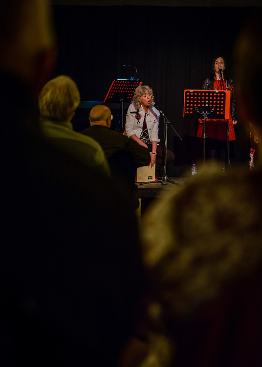The acapella group L.O.K.A singing at the County Hotel , as part of the 2017 YES (Selkirk, Ettrick & Yarrow) Festival. The Festival, took place over the 12th to 17th September. The bi-annual arts event took place at venues in the Valleys and Selkirk, including The Haining, The County Hotel, Selkirk town square and Bowhill House.  The event included dance, the visual arts, moving image, outdoor theatre, live music and poetry.