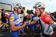 Maximiliano Richeze (ARG - QuickStep - Floors) - Bob Jungels (LUX - QuickStep - Floors) during the Tour de France 2018, Stage 4, Team Time Trial, La Baule - Sarzeau (195 km) on July 10th, 2018 - Photo Ilario Biondi / BettiniPhoto / ProSportsImages / DPPI