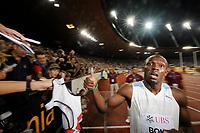 Usain Bolt (JAM) nach seinem Sieg ueber 100m © Valeriano Di Domenico/EQ Images
