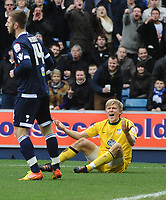 Football - Championship - Millwall vs. Crystal Palace <br /> Jonathan Parr (Palace) complains about James Henry (Millwall) tackle