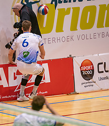 Thomas Douglas Powell of Lycurgus and photographer in action during the league match between Active Living Orion vs. Amysoft Lycurgus on March 20, 2021 in Doetinchem.