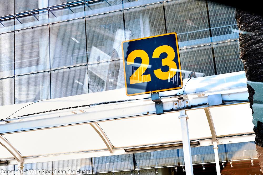 Platform number 23 at station near airport Barcelona