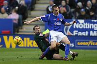 Photo: Pete Lorence.<br />Leicester City v Plymouth Argyle. Coca Cola Championship. 11/11/2006.<br />Tony Capaldi tackles Alan Maybury.