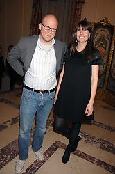 TOBY & CAROLINE YOUNG at a party to celebrate the publication of The End of Sleep by Rowan Somerville held at the Egyptian Embassy, London on 27th March 2008.<br /><br />NON EXCLUSIVE - WORLD RIGHTS