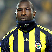 Fenerbahce's Mamadou NIANG during their Turkish superleague soccer derby match Fenerbahce between Trabzonspor at the Sukru Saracaoglu stadium in Istanbul Turkey on Sunday 30 January 2011. Photo by TURKPIX