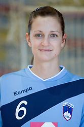 Portrait of Ana Gros of Slovenian Handball Women National Team, on June 3, 2009, in Arena Kodeljevo, Ljubljana, Slovenia. (Photo by Vid Ponikvar / Sportida)