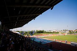 ZAK stadium and Green Dragons at final match of 2nd SNL league between NK Olimpija in NK Aluminij, on May 23, 2009, ZAK, Ljubljana, Slovenia. Aluminij won 2:1. NK Olimpija is a Champion of 2nd SNL and thus qualified to 1st Slovenian football league for season 2009/2010. (Photo by Vid Ponikvar / Sportida)