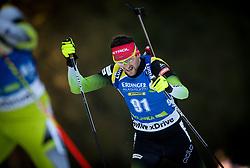 Jakov Fak (SLO) in action during the Men 10km Sprint at day 6 of IBU Biathlon World Cup 2018/19 Pokljuka, on December 7, 2018 in Rudno polje, Pokljuka, Pokljuka, Slovenia. Photo by Vid Ponikvar / Sportida