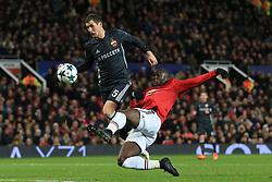 5th December 2017 - UEFA Champions League - Group A - Manchester United v CSKA Moscow - Romelu Lukaku of Man Utd scores their 1st goal - Photo: Simon Stacpoole / Offside.