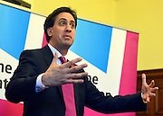 © Licensed to London News Pictures. 05/11/2012. London, UK Ed Miliband. Labour leader Ed Miliband Delivers a speech on the Living Wage at Islington Town Hall today 5th November 2012 This week is Living Wage Week. Photo credit : Stephen Simpson/LNP