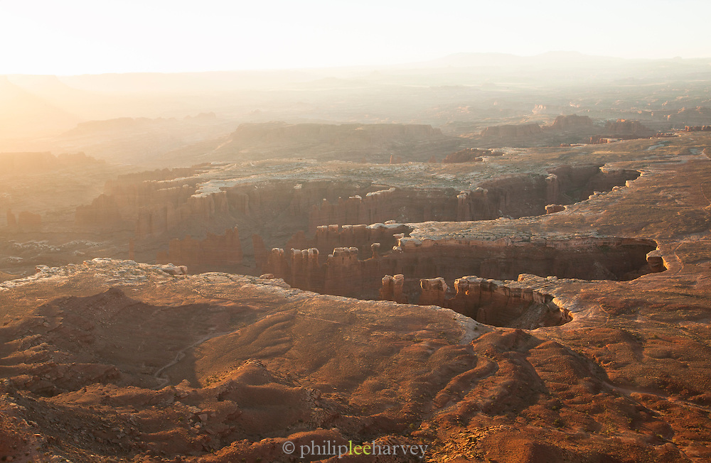 View from Grand View Point Overlook, Canyonlands National park, Utah, United States of America