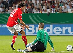 02.09.2011, Veltins Arena, Gelsenkrichen, GER, UEFA EURO 2012 Qualifikation, Deutschland (GER) vs Oesterreich (AUT),  im Bild .+19+ holt den Ball nach dem 4:2 bei Torwart Manuel Neuer (Deutschland , Bayern Muenchen).. // during the UEFA Euro 2012 qualifying round Germany vs Austria  at Veltins Arena, Gelsenkirchen 2011-09-02 EXPA Pictures © 2011, PhotoCredit: EXPA/ nph/  Mueller       ****** out of GER / CRO  / BEL ******       ****** out of GER / CRO  / BEL ******